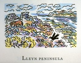 Lleyn Peninsula, 13th illustration in the book An ABC Tour of Wales ( an alphabet book compiled by the artist) (Gregynog, Wales: Peter Allen, 1994)