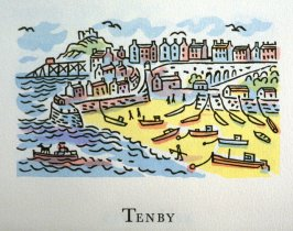 Tenby, 21st illustration in the book An ABC Tour of Wales ( an alphabet book compiled by the artist) (Gregynog, Wales: Peter Allen, 1994)