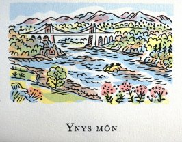 Ynys Môn, 26th illustration in the book An ABC Tour of Wales ( an alphabet book compiled by the artist) (Gregynog, Wales: Peter Allen, 1994)