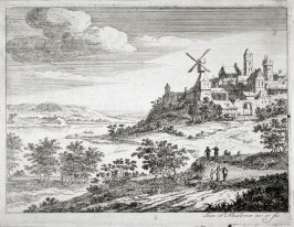 Landscape with River and Town on the high ground