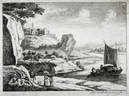 Landscape with River and towns on either side