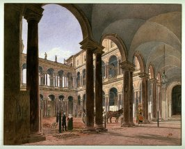 Courtyard of the Borghese Palace, Rome