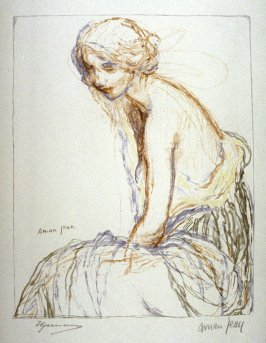 [Seated Woman] from the portfolio Les Cartons d'estampes gravées sur bois, oeuvrage corporative (Portfolio of wood engravings after works of various French artists)