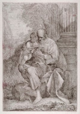 St. Joseph Reading to the Infant Christ Child