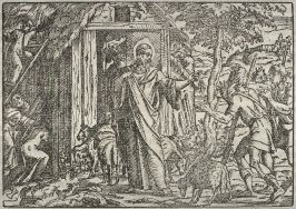 One of four woodcut illustrations to German Bible