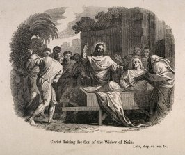 Biblical Scenes: Christ Raising the Son of the Widow of Nain