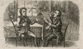 Bucolic Dancers; Hermit with Deer; Two Men, One with Newspaper