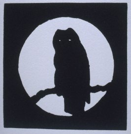 """""""Owl"""" in the book Bestiary by Bradford Morrow (New York: Grenfell Press, 1990)."""