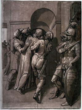 Christ Led Away from Pontius Pilate, right half of a diptych, after Giambologna