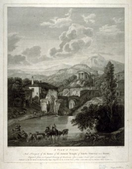 A View of Tivoli and prospect of the Ruins of the Ancient Temple of Sibylla Tiburtina near Rome, After Moucheron.
