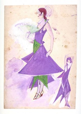 Costume Sketch (Woman in two Poses)