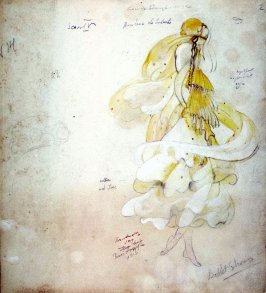 "The Bluebird: Costume design for a dancing girl, Scene IV from the ballet ""Bonheur de Soleil"""