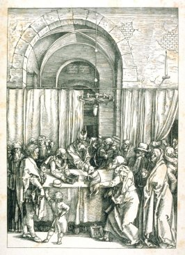 Copy after Dürer's Joachim's offering rejected from the life of the Virgin
