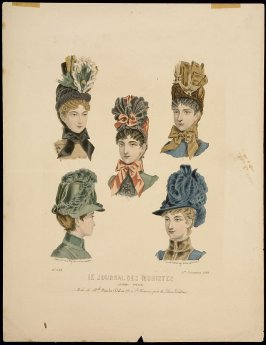 Le Journal des Modistes: Modes de Mlle. Amelie Dubos, December 1, 1885 from Journal Special, no. 1158