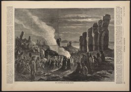 Idols Festival in Easter Island, from Harper's Weekly, (26 April 1873), p. 349