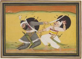 Maharao Bim Singh of Kotah Killing Khilich Khan in 1720