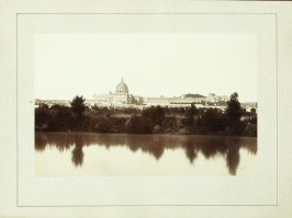 Untitled ( View of Saint Peters, Rome from across the Tiber River)