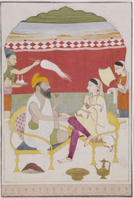 Sikh Nobleman Seated With Woman