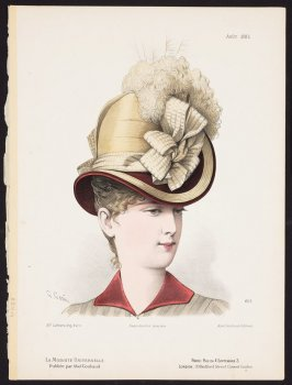 Untitled (Woman with Hat) from La Modiste Universelle, August 1885, no. 426