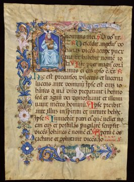 Parchment -Leaf from Missal of the Mass