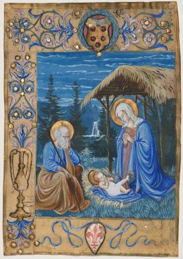 Parchment - Miniature of the Nativity