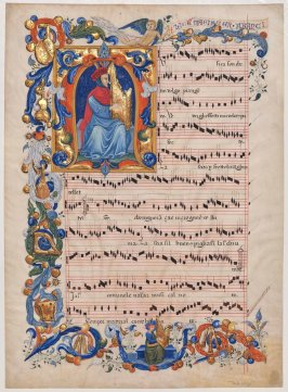 Illuminated Sheet of Music