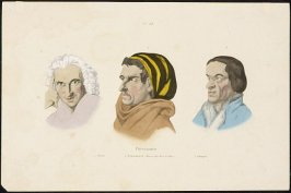 Plate 518: Physionomie, 1. Sterne, 2. Transteverin (Romain d'au - de - la du Tibre), 3. Zuingle