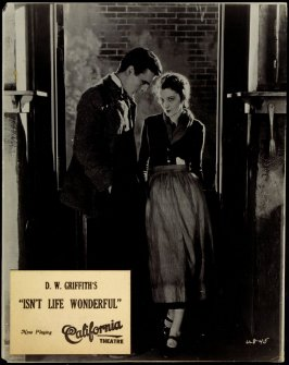 "Carol Dempster and Neil Hamilton in D.W. Griffith's ""Isn't Life Wonderful"" (film still)"