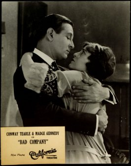 "Conway Tearle and Madge Kennedy in ""Bad Company"" (film still)"