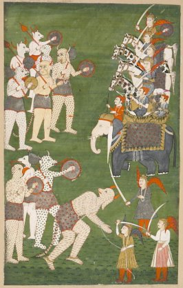 Forces of Rama Fighting Devils of Ravana