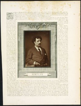 Mariano José-Maria-Bernardo Fortuny from the journal Galerie Contemporaine, Littéraire, Artistique
