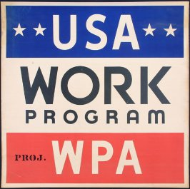 USA WORK PROGRAM, WPA Poster