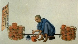 Charcoal brazier seller