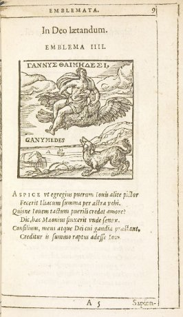 In Deo laetandum (Joy is to be found in God), emblem 4 in the book Emblemata by Andrea Alciato (Antwerp: Plantin [under the direction] of Raphelengius, 1608)