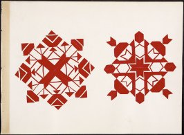 Kindergarten Album Collage: Two red snowflake designs