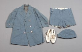 Boy's Daytime Ensemble (Coat, Shorts, Cap, Shoes)Light restrction recommendation as per Keiko Keyes: Yes