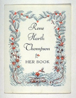 Bookplate for Rene Harth Thompson