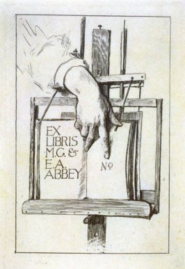 Bookplate for M.G. & E.A. Abbey (Edwin Austin Abbey)