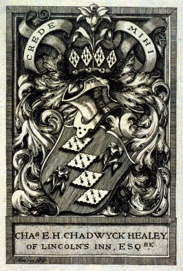 Bookplate for Charles E.H. Chadwyck Healey (of Lincoln's Inn, Esq RE)