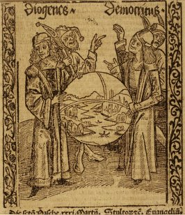 "Philosophy and Science: woodcut illustration for the original edition of the ""Narrenschiff"" (Ship of Fools), taken from the Latin reprint edition Basel"