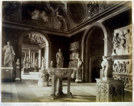 View of a gallery of antiquities in the Vatican
