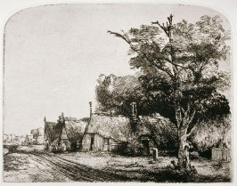 Landscape with three gabled cottages (Copy)