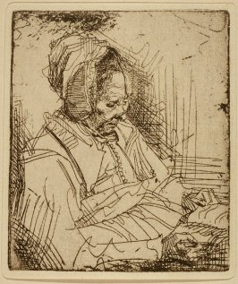 Woman reading with spectacles (Copy)
