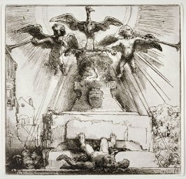 The phoenix on the statue overthrown (Copy)