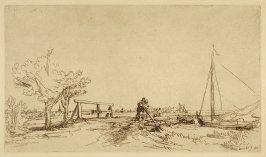 [Landscape with bridge and boat] (Copy)