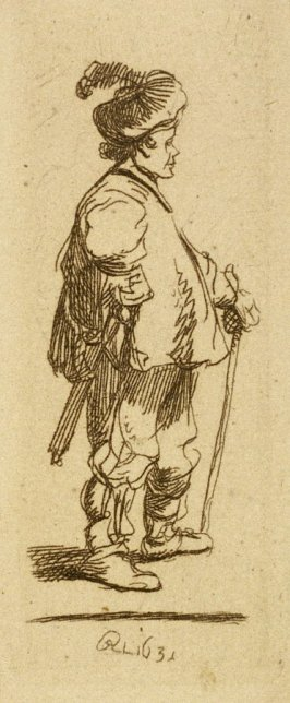 A polander standing with a stick (Copy)