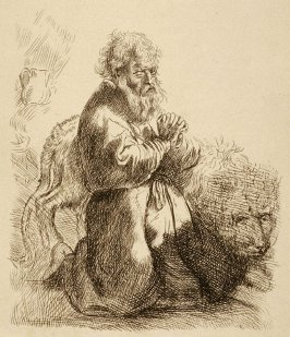 St Jerome kneeling in prayer (Copy)
