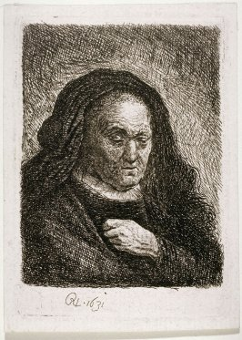 Rembrandt's mother with hands on chest (Copy)