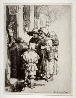 Beggars at the door of a house (Copy)