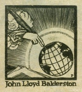 Bookplate for John Lloyd Balderston